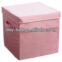 Yarn-dyed Fabric Rectangular Drawer Storage Organizer Box