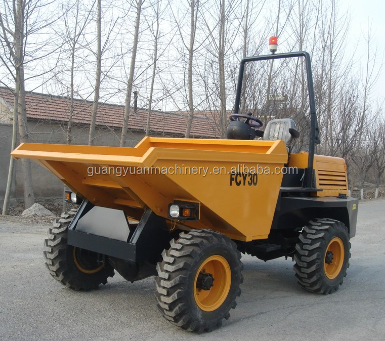 FCY30 SD30 4WD 3 TON dump truck for sale
