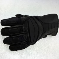 Custom winter Mens knuckle guard leather motorcycle gloves