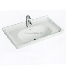 French ceramic sanitary ware above counter mount with vanity tops porcelain bathroom cabinets middle edge washing basin