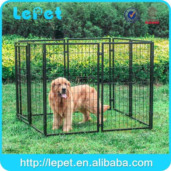 hot dipped galvanized chain link dog kennel /dog house cages/strong run panels for dog manufacturer