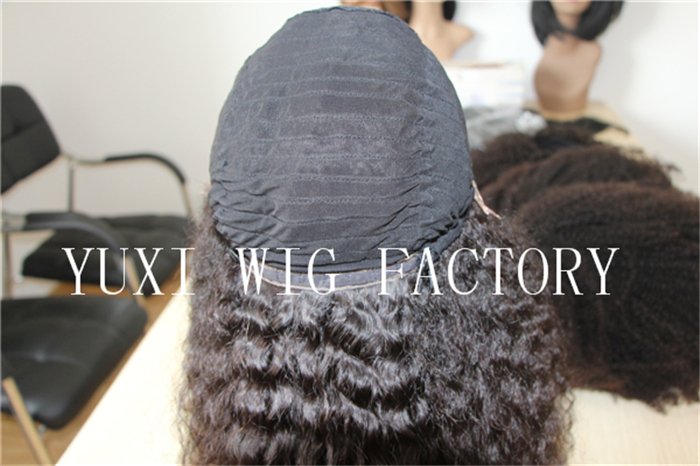 Glue less lace front indian remi human hair wig for black women
