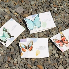 Butterfly Greeting Cards Mothers Day Gifts Mini Three-dimensional Invitation Card