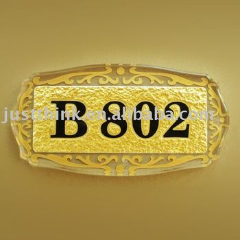 acrylic house doorplate number