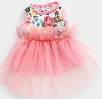 Wholesale cheap Dogs summer dresses with flower printed ,pretty lovely pet summer skirt