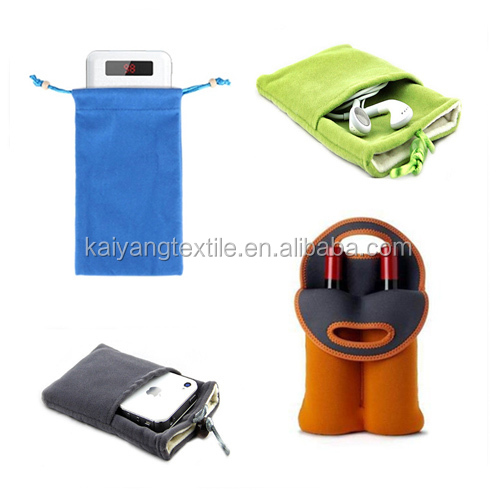 durable 30% polyamide 70% polyester silk screen printing double drawstring pouch