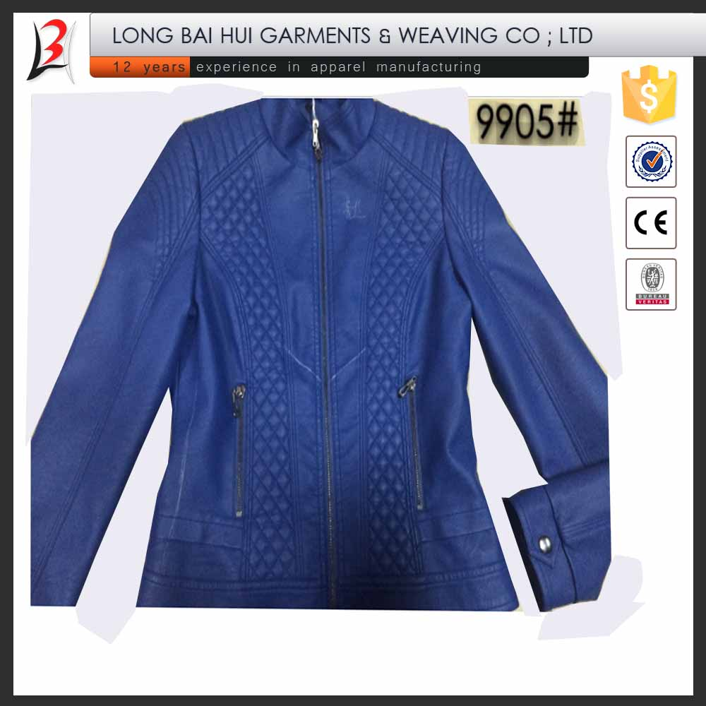 Ladies fashion 6 colors super PU coat stock for South America