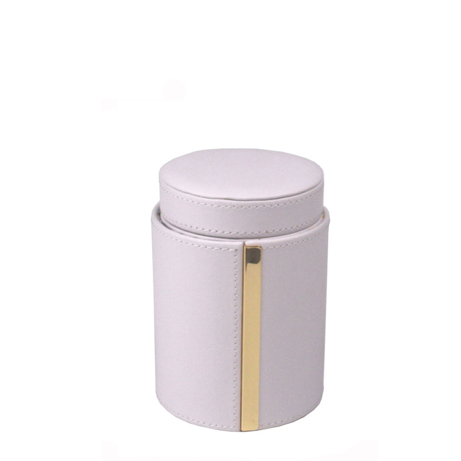White round shaped mirror multifuntion travel jewelry storage box