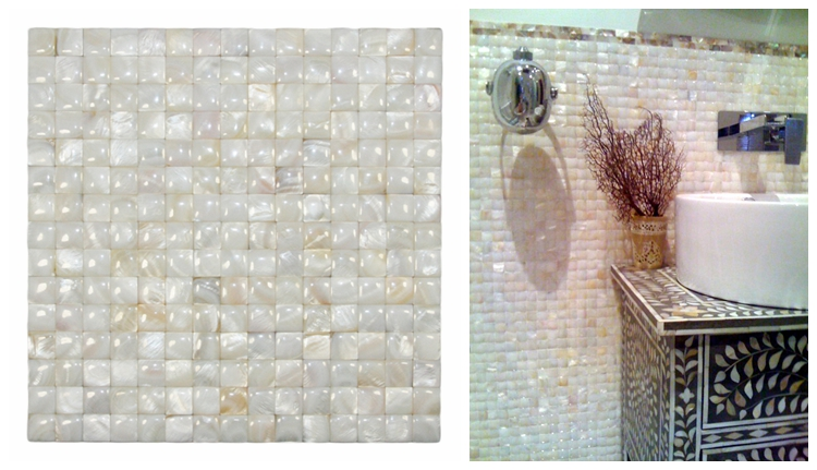 Decorstone24 Groutless Nature Mother Of Pearl Seashell Convex Mosaic Backsplash Tiles With Fast Delivery
