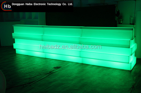 sex hymen refrigerated bar top Hard plastic portable light bar counter / movable bar with led light