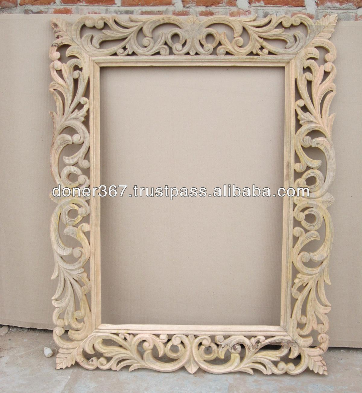 wooden big hand carved mirror frame - Wooden Picture Frames Cheap