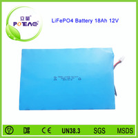 Best 26650 cell 18ah 12v rechargeable lifepo4 battery pack
