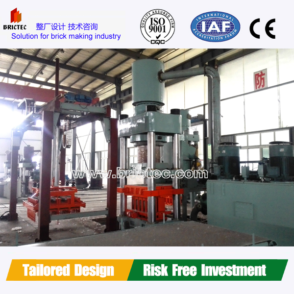 Baking free brick production line QFT10 automatic hollow block machine