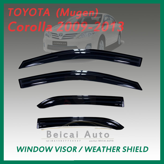 Smoke Window Visor Vent Shade for Toyota Corolla Sedan 4D 09-13