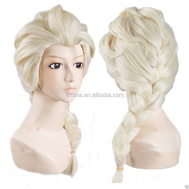 Charming wholesale blonde adult nice day frozen elsa wigs for party W12168