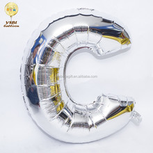 Self sealing giant 40 inch silver mylar helium letter balloon