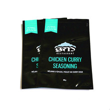 Hot sale moisture proof reusable plastic food packing bag for 100g chicken curry seasoning