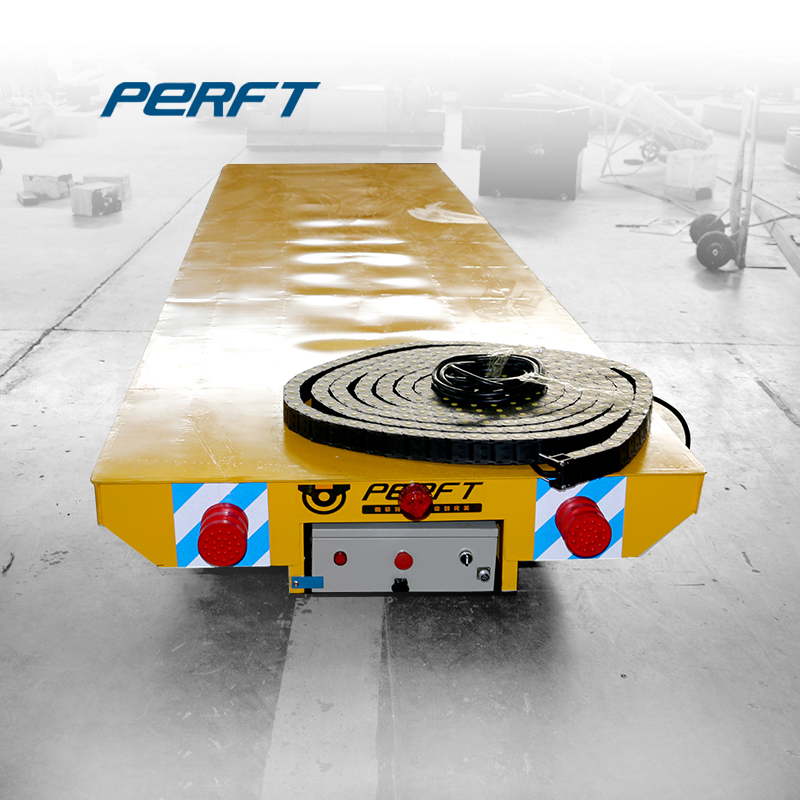 Cable Reel Powered Electric Rail Flat Transfer Cart Supplier And Manufacturer