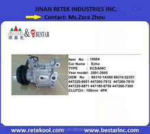 SCSA06C Electric Ac Compressors for Toyota ECHO Cars