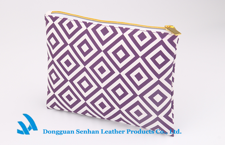 OEM fashion custom polyester cosmetic bag no minimum with zipper for woman wholesale