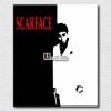 Pop art Scarface black and white painting