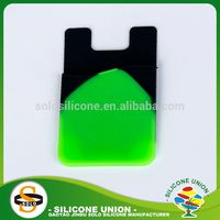 Small custom logo phone silicone card holder