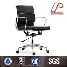 EA217 office chair, leather middle back chair, soft pad chair