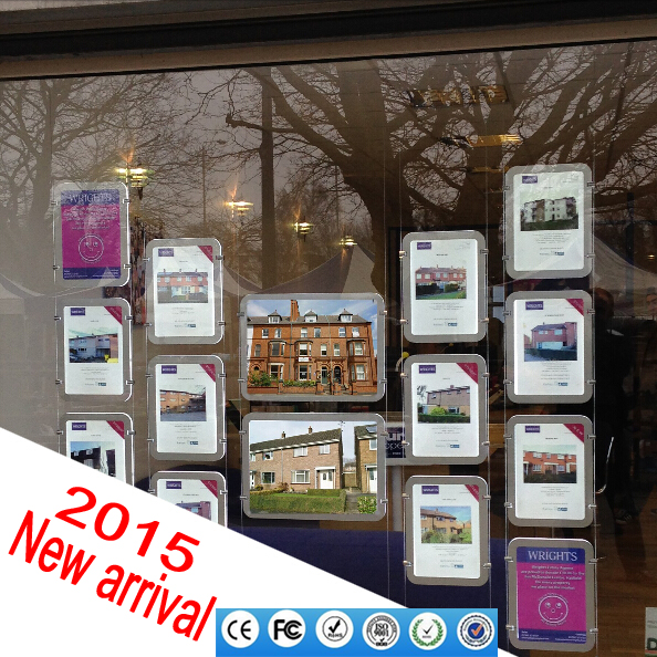 Real estate agency led window signs size a3 a4/led window backlit panels/exhibitors showcase backlit led display