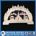 3d laser cut christmas light wooden window bridge light led for christmas gifts