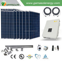Gama Solar solar panel 10kw whole house on grid solar power system for Yemen