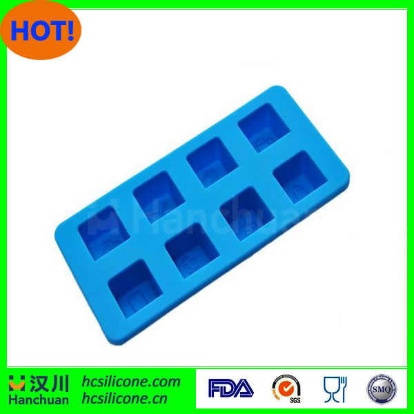 Embossed logo silicone ice cube tray