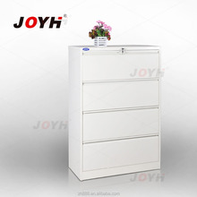 High Quality Silver White Four Drawers Cupboard Wide Filling Cabinets Modern Lockers with Key Lock