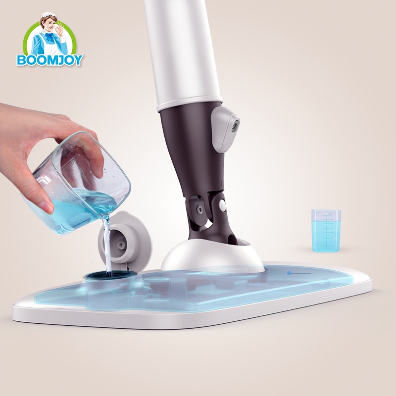 2016 BOOMJOY newly designed water saved 360 rotation microfiber spray mop/ fan- shaped mist spray