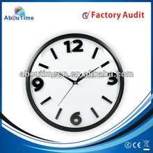 3D plastic 12inch wall clock waste material art craft for promotion