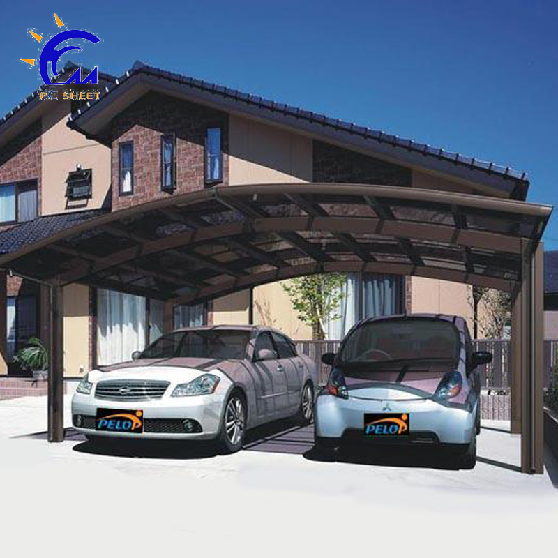 aluminum carport parking shed metal car canopy with polycarbonate arched roof