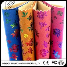 Print suede fabric for making shoes