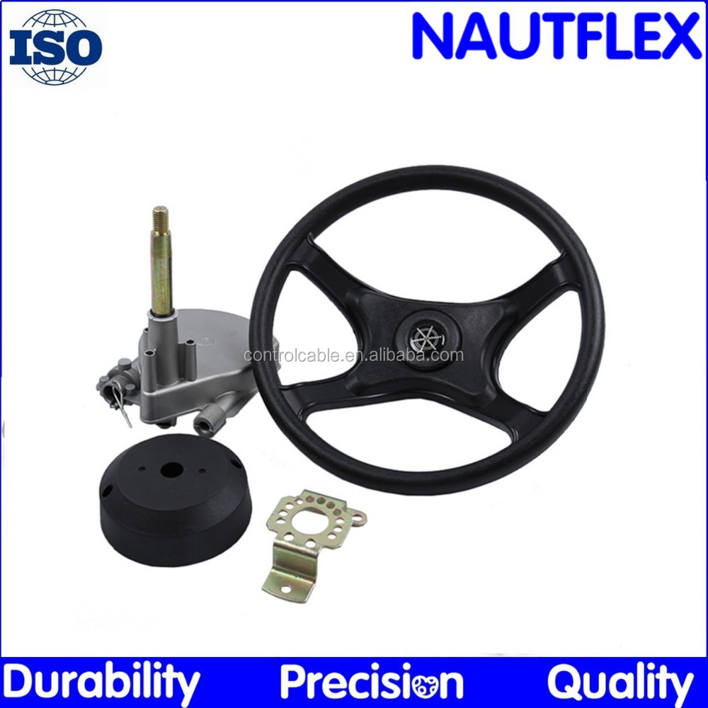 Nautflex YK7 Motor Boat Steering SYSTEM (helm+wheel+cable)