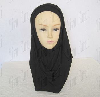 US$1.86-2.86 Fashion solid color plain elastic cotton muslim jersey hijab