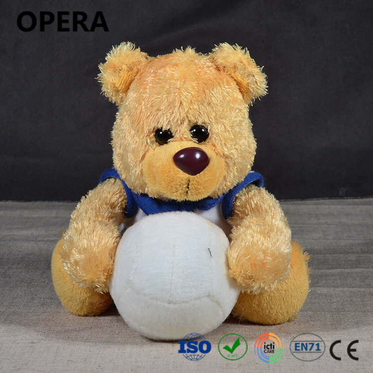 fashion cheap new brown plush white ball t-shirt low price teddy bears