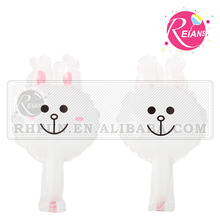 Reians Mini rabbit cony head foil balloons printed animal shaped balloon helium globos (Accept OEM,ODM)