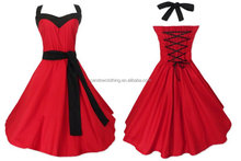 evening dresses sale women wedding party bridal wear red 50's designs knee length short bridesmaid dress