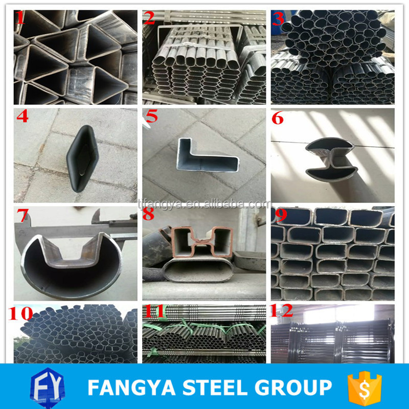 steel tubing in different shapes ! special pipe & special section tube