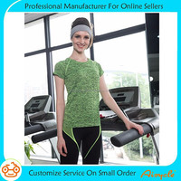Gym T shirt Compression Tights Women Sport shirts Running Short Sleeve T-shirts Fitness Women Tops