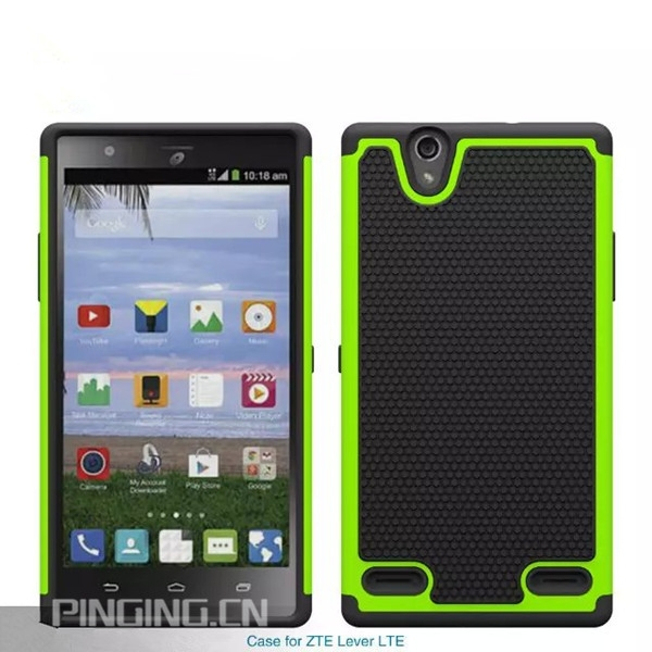 PC Silicone Shockproof case for ZTE Lever lte Z936L football mobile phone cover