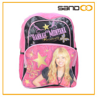 "Wholesale 16"" Hannah Montana school bag, cute girl backpack school"