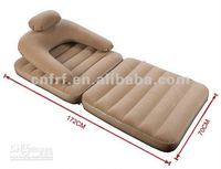 Inflatable Flocked Sofa Chair Bed
