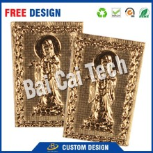Manufacturer customized logo good quality gold silver foil embossing picture, gold foil gift