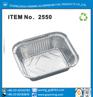 No2 food use disposable take away aluminum foil container