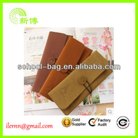 2014 fashionable widely used velvet drawstring pen bag