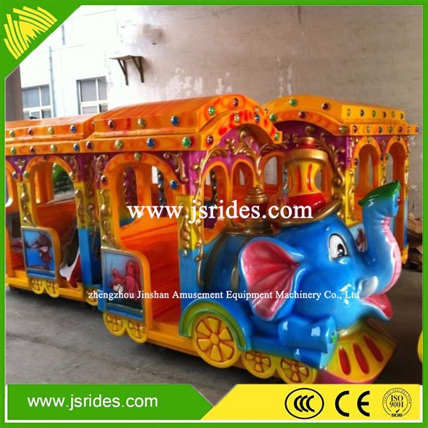 Theme park mini electric trains with elephant design kids ride electric train